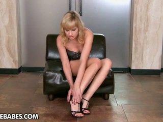 striptease, babes vid, plezier lange benen