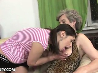 new kissing clip, face sitting, granny