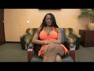 Curvy ebony girl pleases her man