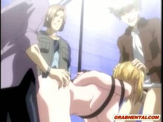 Bondage Hentai Brutally Gangbanged By Bandits