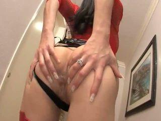 Jayla starr shows av henne veldig sexy rød undertøy