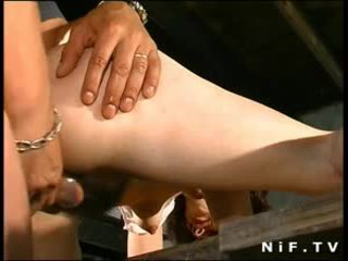 Hairy french mom gets anal fucked