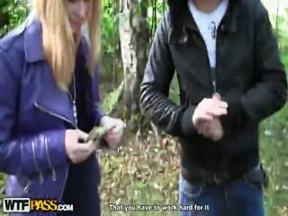 Horny Outdoor Drill For The Sexy Blonde