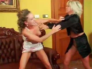 Two Sexy Sluts Wrestling