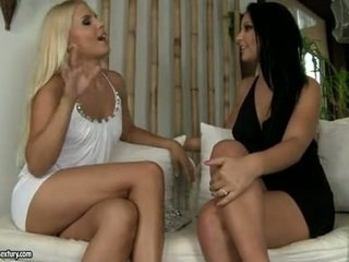 Lezbo Brandy Smile Can Not Live Out Of The Enjoyment Of Nibbling Her Girlfriend's Pleasing Tits