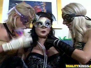 brunette porno, maskeren, ideaal likken mov