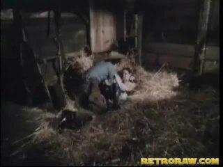 Ретро bang вътре че мъж stables