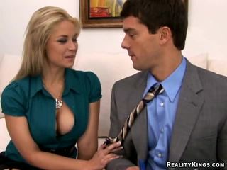 Big Tits Boss Sarah Vandella, Power To The Pussy