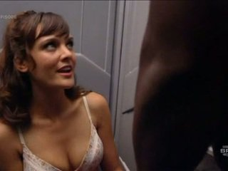 Franky Shaw Demonstrates Sensuous Bra Clad Cleavage And Panty Covered Brown Eye