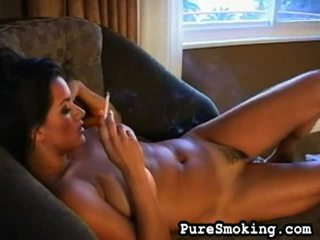 Sultry Smoker Undresses