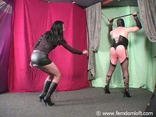Punishing Domme Whipping