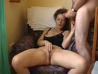 Kinky mature masturbates at home Video
