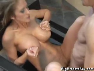 Busty Abby Rode Pussy, Tit Fucked And Jizzed On
