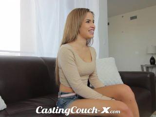 Кастинг couch-x екзотичен cali момиче nervous към правя порно