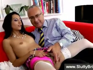 girl, brunettes, check old young clip