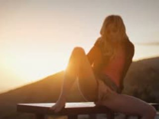 masturbatie video-, buiten-, vers blond