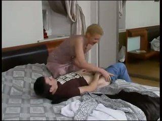 Russian boy fuck his Milf mom