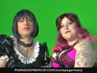 Sextape germany - kinky fetisj neuken met crossdressing