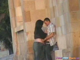 Bbw Gets Spied Blowing A Guy In Public