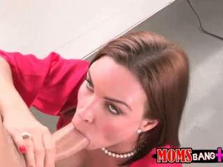 Diamond Foxxx n Abby Cross share on cock
