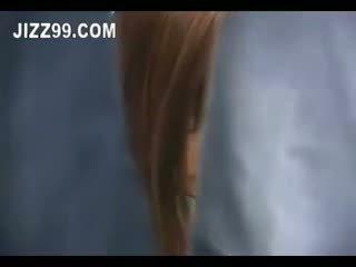 Japonsko šolarka kremna pita zajebal v vlak 03