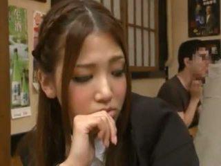 Nanako hoshizaki has dia janggut terbuat cinta dari backside di itu restaurant