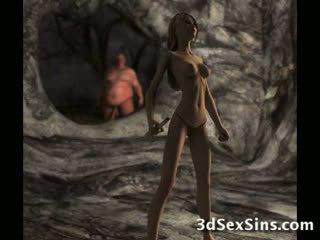 Ogres spunk ב תלת ממדים בחורות!