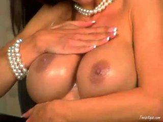 단 아기 crissy moran receives 그녀의 대규모 mambos creamed 과 rubs 그녀의 핑크 고양이