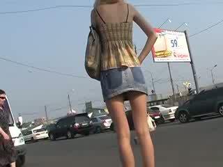 Mooi kennismaking met amateur omhoog skirts