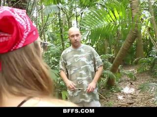 BFFS - Camping Sluts Fuck Homeless Man