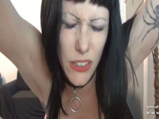 Gothic French Slut Screwed Ass Plugged Facialized in...