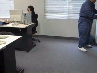 Molested sleeping office lady