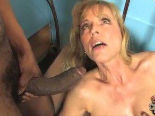 Mature Nicole Moore fuck two black cock
