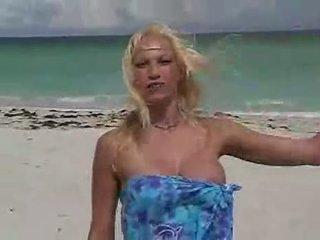 01 Nikki Hunter Plays With Guys At Miami Nude Beac