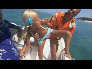 Outdoor loving babe Boroka Borres gets the perfect hot bang on the yacht