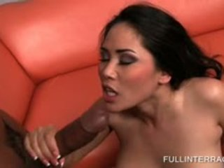 Naked Asian Gets Her Share Of Interracial Sex