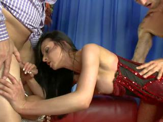 Two Experienced Studs Fuck Blonde and Brunette on the