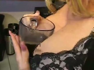 Kelly Madison gets cream on her monster boobed in the kitchen