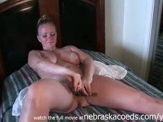 kinky object masturbation by hot blonde during spring break