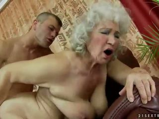 Hairy granny getting fucked hard