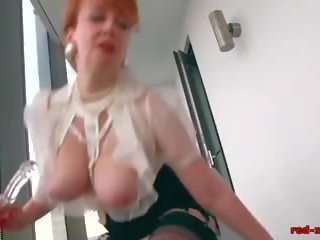 Redhead Office Slut Plays with Her Red Cunt: Free Porn e2