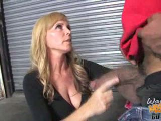 Blonde mother Nicole Moore gets banged by a fat do