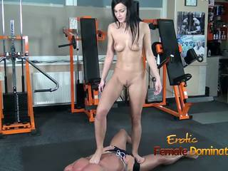 Abbie Cat Tramples on Slave in Jeans then Nude: HD Porn b8