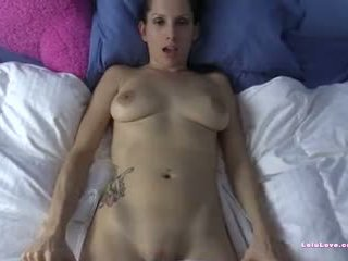 POV jerking your cock to my naked body then cum on my panties