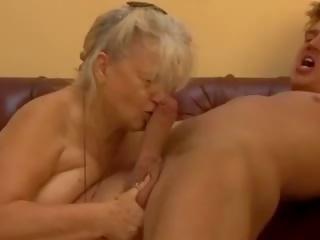 cumshots, oma video-, grannies