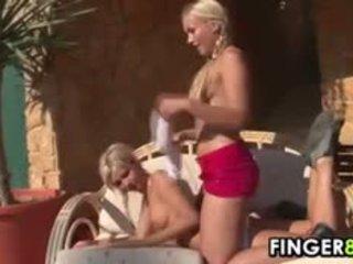Blonde Lesbian Tennis Players Strip Down