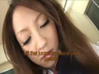 Japanese schoolgirl sucks more dicks