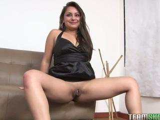 big, cock, brunette