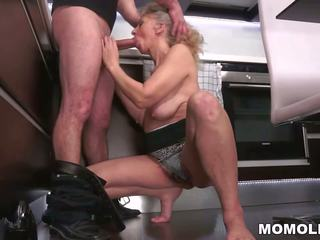 Hairy Granny Fucked in the Kitchen, Free Porn 82