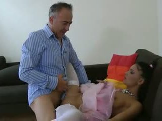 Old Man and a Really Hot Brunette, Free Porn 89